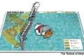 Réfugiés enfant mur