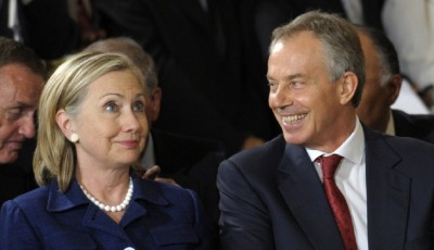 Details about Tony Blair's relationship with Hillary Clinton have emerged in several batches of private emails that have been released by the State Department. (AP Photo/Susan Walsh)