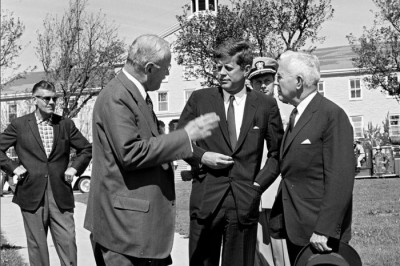 President John F. Kennedy with CIA Director Allen Dulles and Director-designate John McCone on September 27, 1961. Photo credit: Robert Knudsen. White House Photographs. John F. Kennedy Presidential Library and Museum, Boston