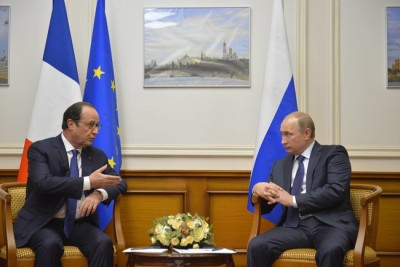 François Hollande, President of France and Vladimir Putin, President of the Russian Federation (CC BY 4.0)