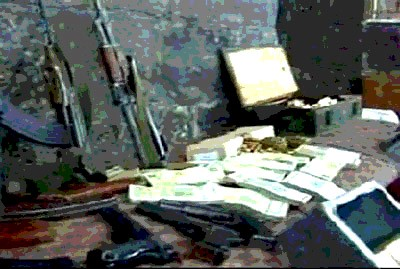 arms seized by Syrian security