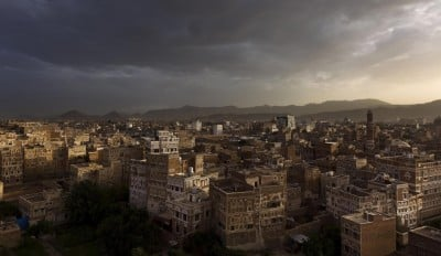 A shot of an ancient neighborhood in Sanaa, the capital of Yemen, taken long before Saudi Arabia's invasion. AFP/Getty Images