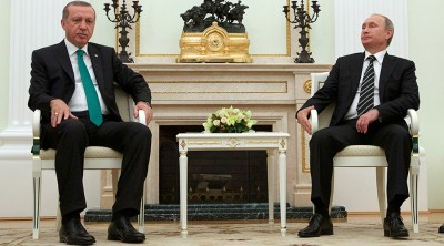 Russian President Vladimir Putin (R) and Turkish President Tayyip Erdogan © Ivan Sekretarev / Reuters