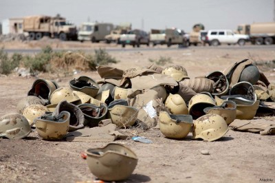 Iraqi military equipment is seen left behind [file photo]
