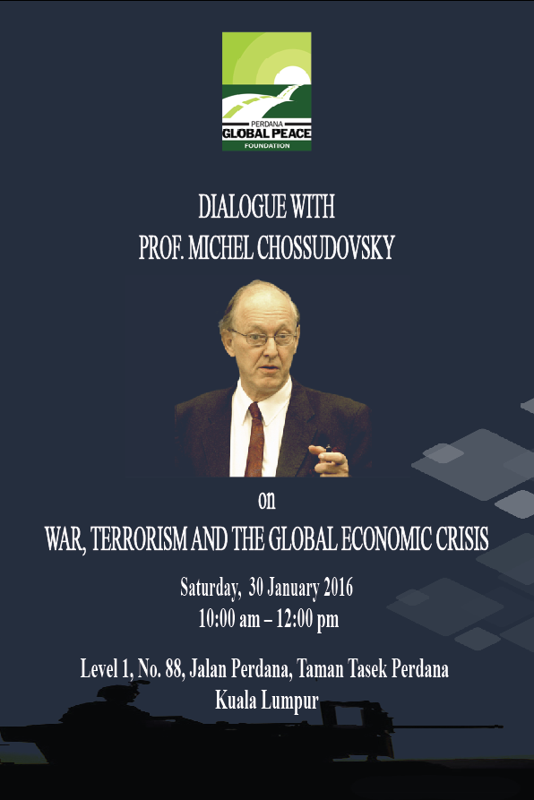 War, Terrorism and the Global Economic Crisis: Michel Chossudovsky in Kuala Lumpur, January 30