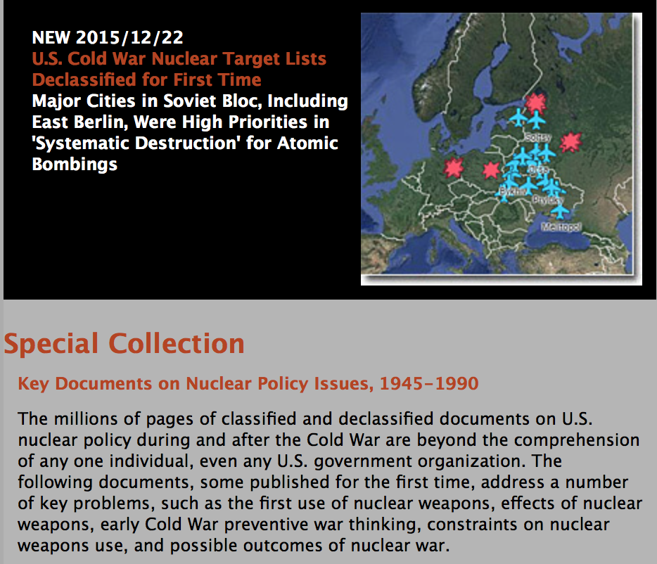 """Wipe the Soviet Union Off the Map"": Planned US Nuclear Attack against USSR"