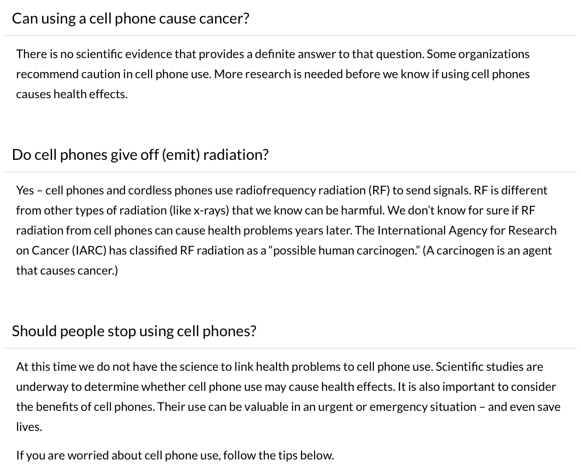 The Frightening Science and Politics of Cell Phone Safety