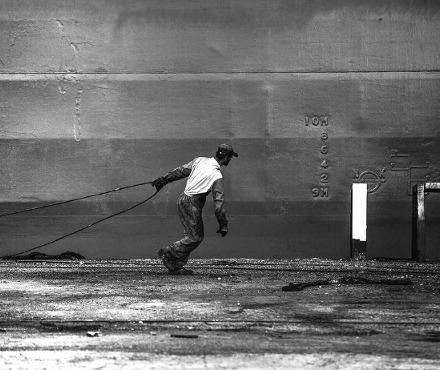 A dockworker in Greece. Vagelis Poulis / Flickr.