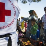 Greek Red Cross helps refugees trapped at Idomeni on the Greece-Macedonia border. Demotix/Giorgios Cristakis. All rights reserved.