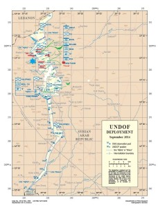 Image: The UNDOF withdrawal leaves a 12 – 16 km wide corridor uncontrolled by the UNDOF. In 2013 it transpired that Israel is providing support for Jabhat al-Nusrah, which includes a joint intelligence and military operations room in the Israeli occupied Golan, logistic support, weapons, field hospitals, and direct combat support. (Map plotting by Christof Lehmann) Click on map to view full size.