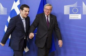 Tsipras and Juncker. CC.