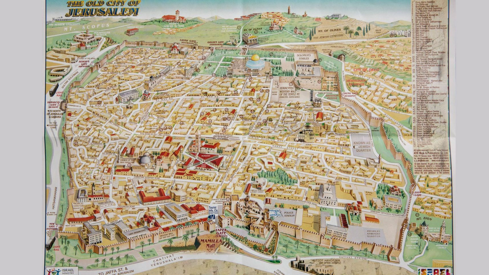 Israeli Tourist Map of Jerusalem Rewrites History Removes – Israel Tourist Map