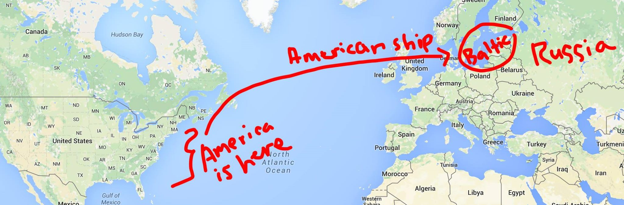 Breaking News American Warship Sails Dangerously Close To - World map russia us