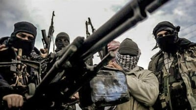 A file photo of Daesh militants in Syria