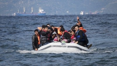 Migrants arriving in Europe by boat