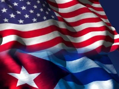 Cuba USA drapeaux