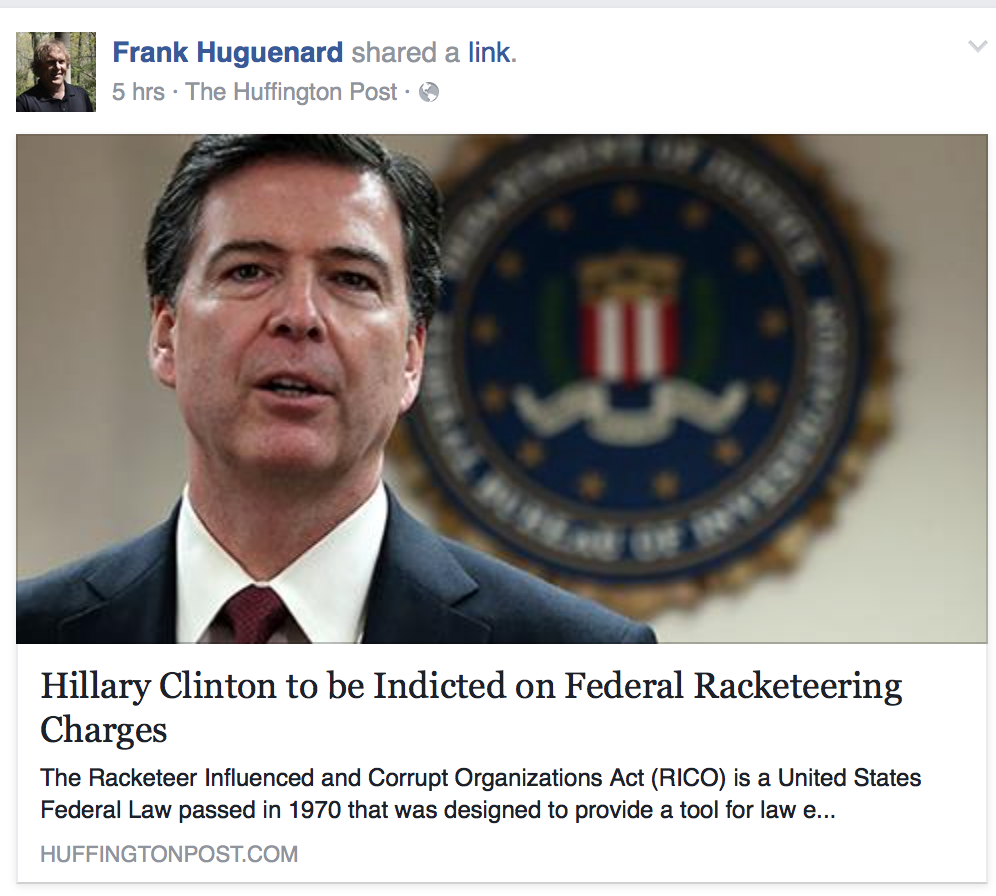 hillary clinton to be indicted on federal racketeering charges