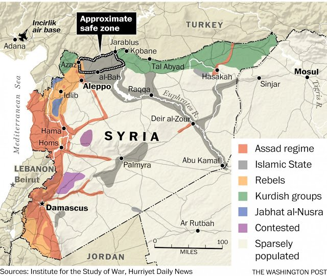 USNATOTurkey Invasion Of Northern Syria CIA Failed Turkey - Why an invasion of us would fail map
