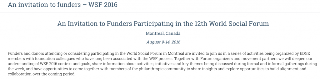 Rockefeller, Ford Foundations Behind World Social Forum (WSF). The Corporate Funding of Social Activism