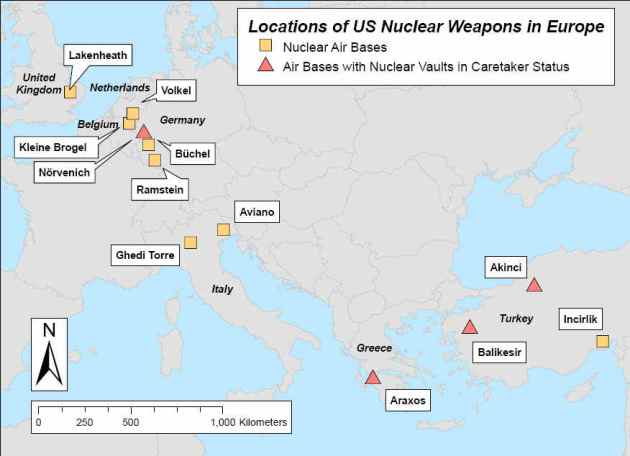 Guess Where The US Will House Its New Modernized Nuclear Weapons - Us nuclear arsenal map