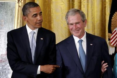 Barack Obama, George W. Bush