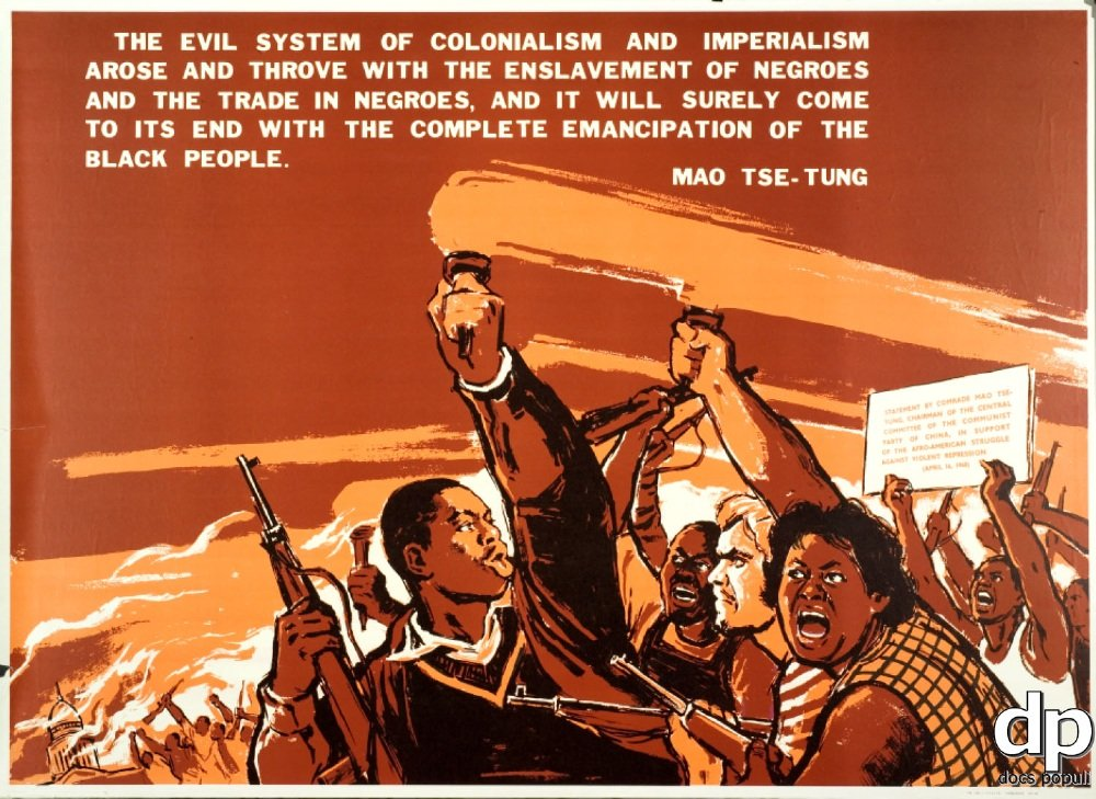 China-African American Liberation poster
