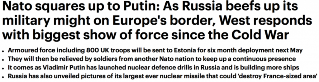 The Russians are Coming: War Propaganda Goes into High Gear. Renewed NATO Military Deployments on Russia's Doorstep…