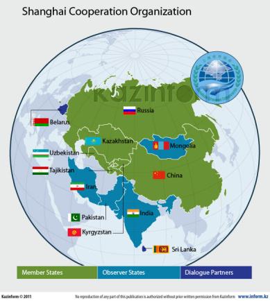 Resultado de imagen para Organización de Cooperación de Shanghai (OCS)