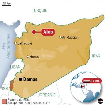 Alep carte localisation