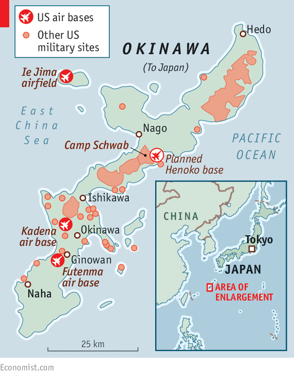 Japans Problematic Prefecture Okinawa And The USJapan - Map of japan and the us