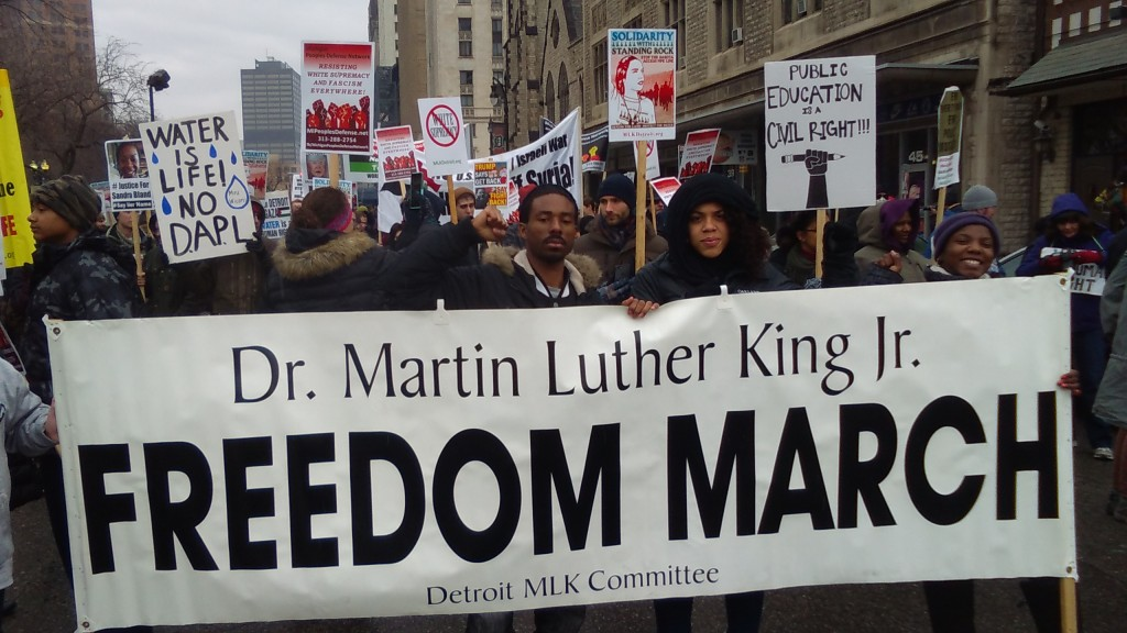 Dr  Martin Luther King, Jr  Day Rally in Detroit: The Struggle to