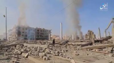 ISIS-footage-Raqqa-airstrike-aftermath