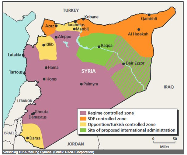 Partition of syria us and israel eye golan heights oil asia times area and large parts of the syrian desert israel and jordan in the southwest according to a partition plan by rand corporation and first published by gumiabroncs Choice Image