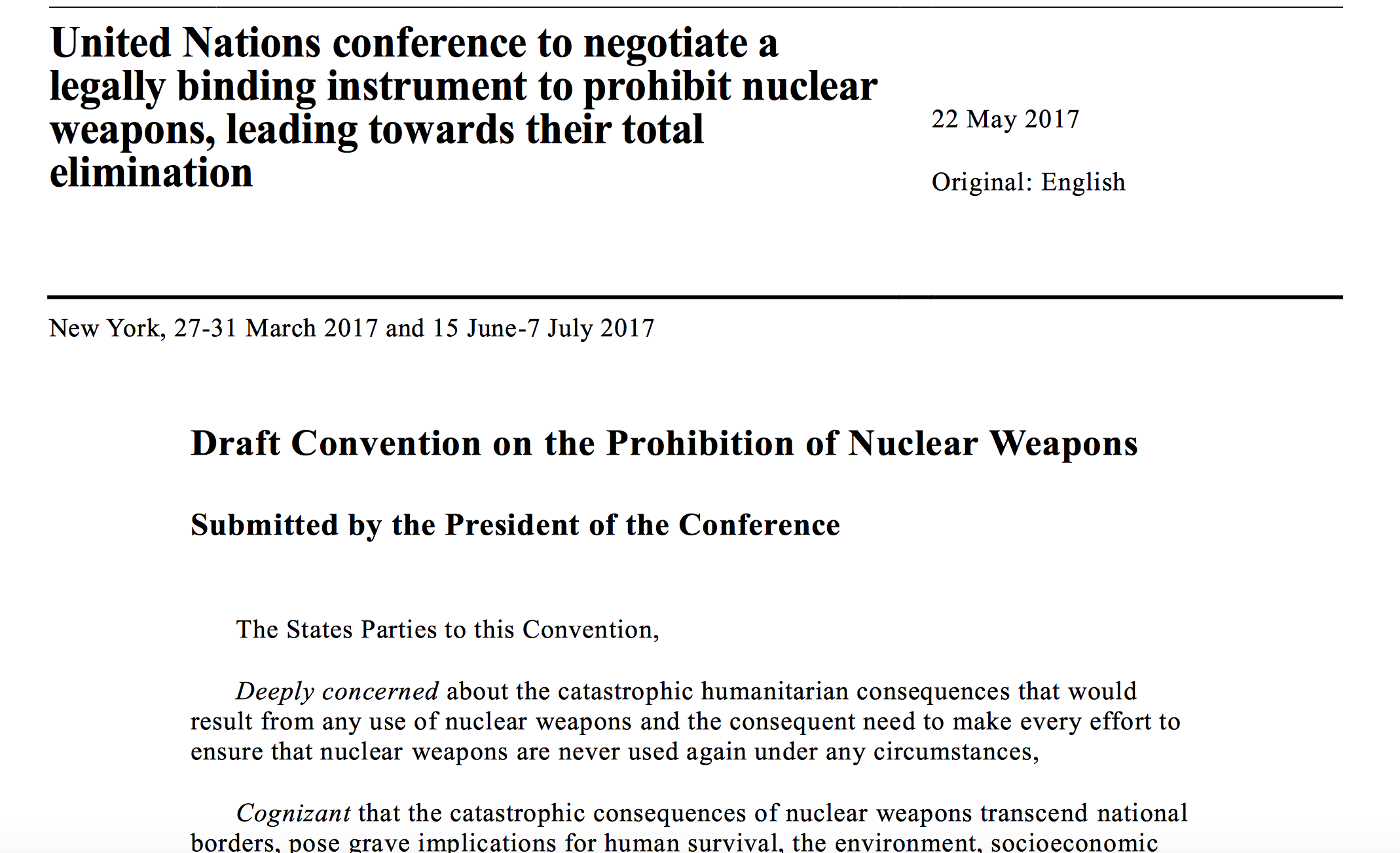 every country should have nuclear weapons