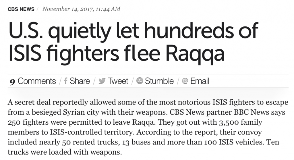 "The Raqqa Exodus: The US Coalition's ""Secret Deal"" to Allow ISIS-Daesh Terrorists to Escape…"