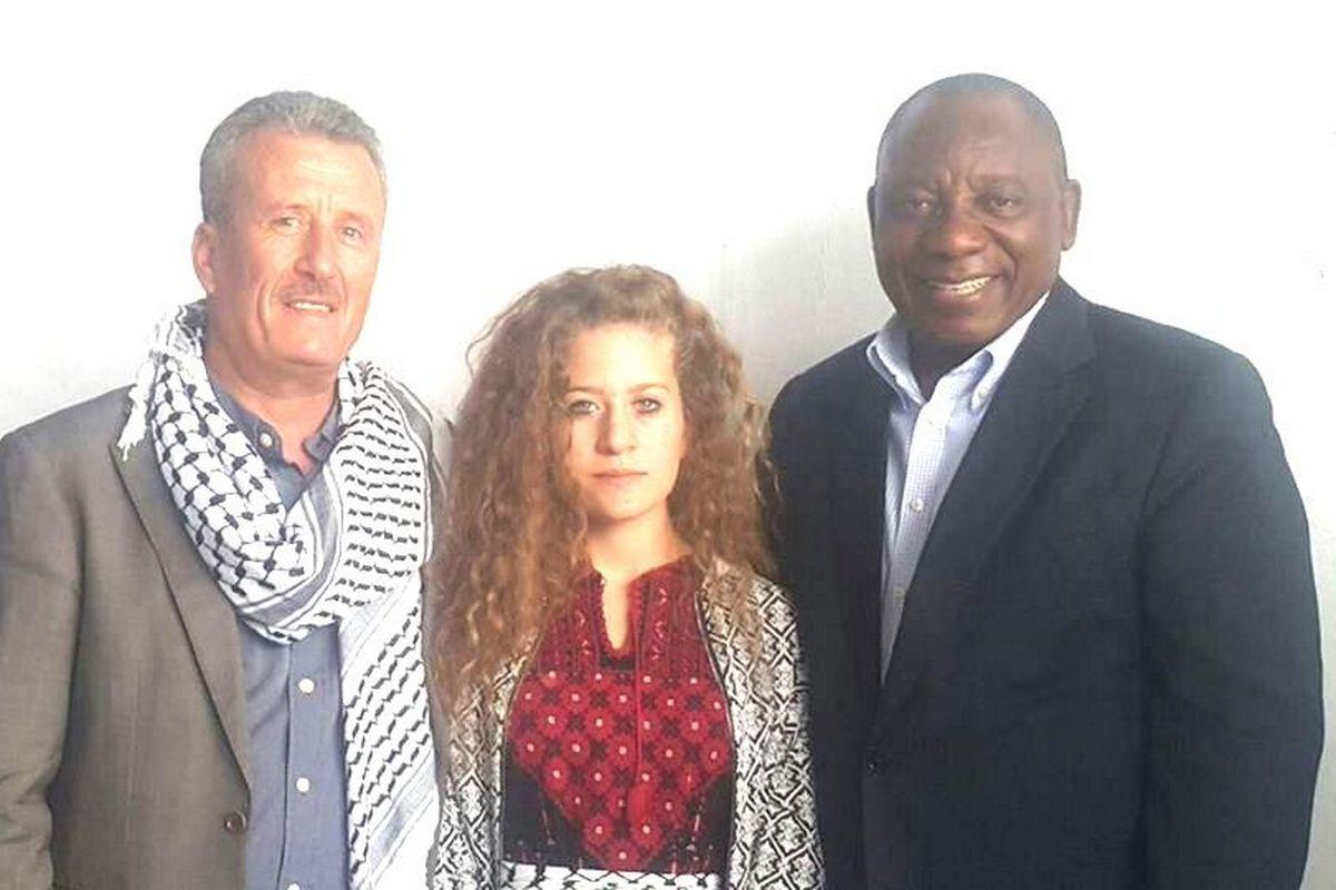 Ahed Tamimi to be Honoured in South Africa by Mandela's Grandson