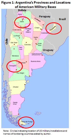 The Expansion Of Us Military Installations In Argentina And Their - Us-military-base-locations-map