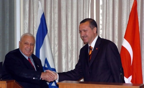 Sharon and Erdogan in 2004