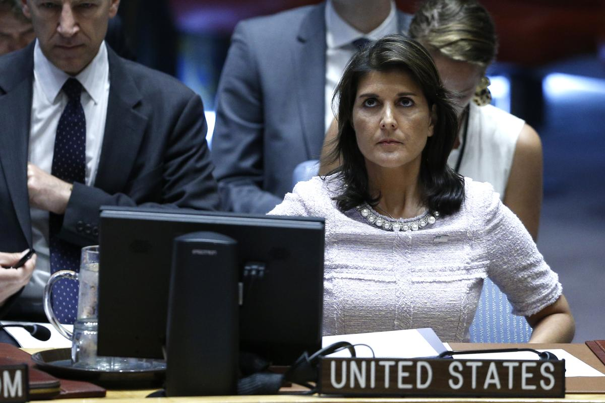 US Envoy Haley: Palestinian Right of Return Should be 'Off the Table'
