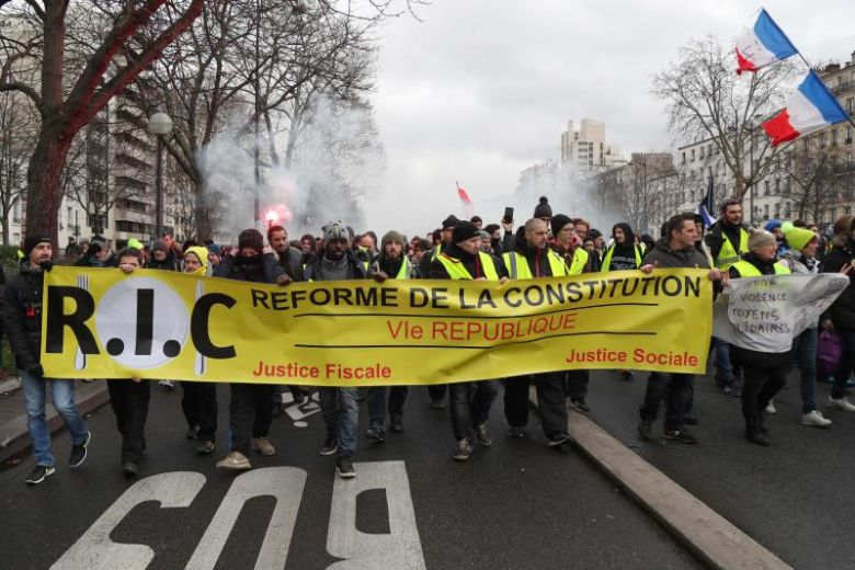 France yellow vest demonstrations continue for 11th week on Jan. 26, 2019