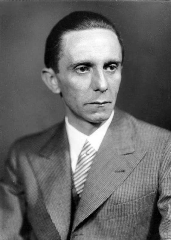 Nazi Germany's propaganda minister Joseph Goebbels