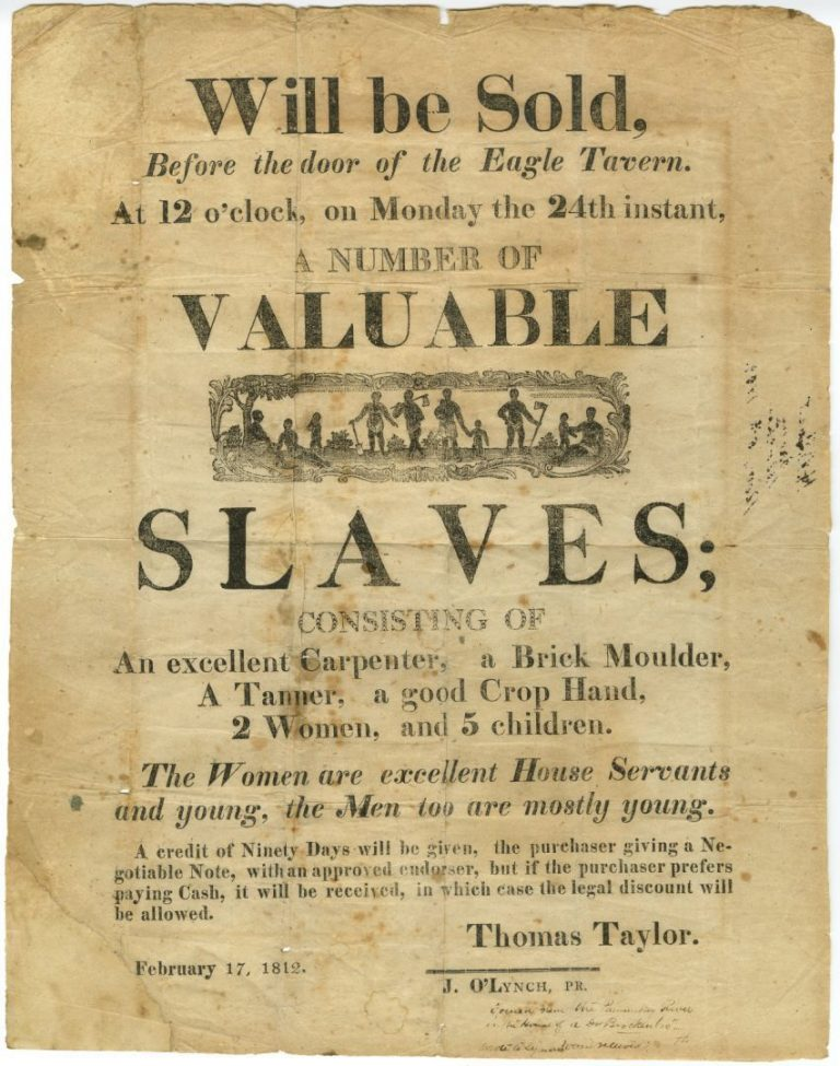 Slave advertisement for the acquisition of Africans
