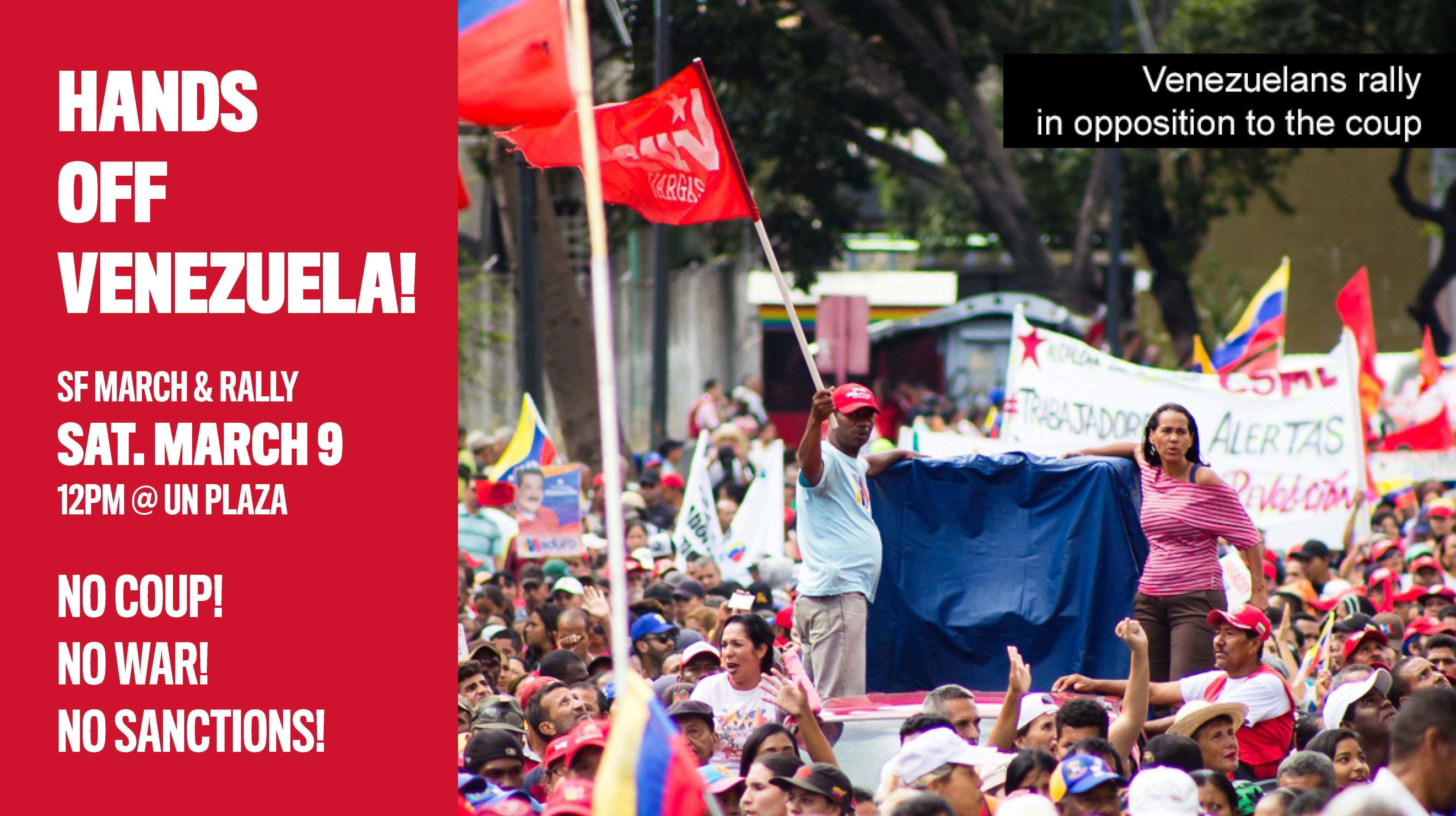 Hands Off Venezuela! No Coup, No War, No Sanctions