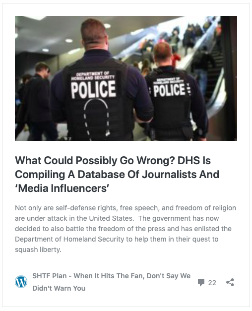 """0fe0715d2 The contract also mentioned the ability to keep tabs on""""influencers,""""  leading some reports to speculate that the proposed database could be used  to monitor ..."""