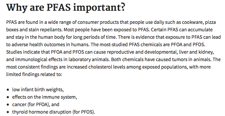 Toxic Fluorinated Chemical (PFAS) Found in Supermarket Foods