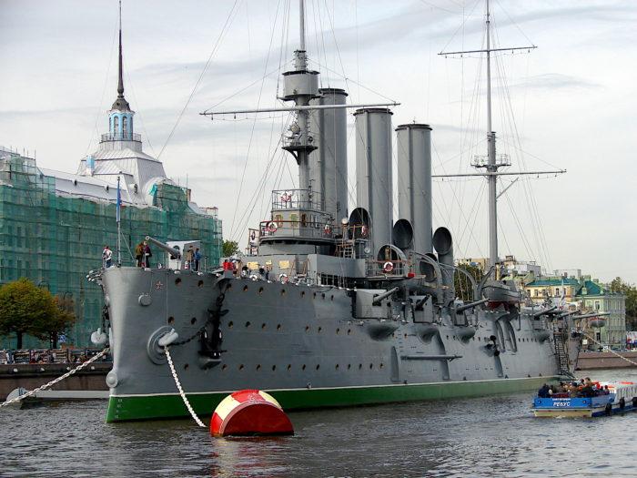 Xi and Putin cruising into a multipolar world: Aurora Cruiser Museum (Wikipedia)