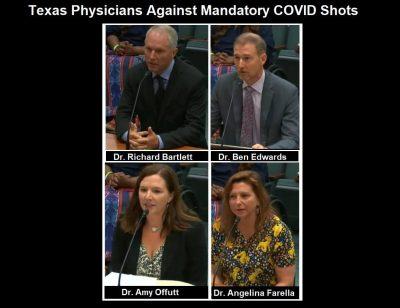 Keine Impfpässe in Texas! Ärzte bezeugen vor dem Senat, dass sie sich der obligatorischen COVID-Impfung widersetzen müssen