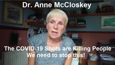 Irish Medical Doctor: The Shots Are Killing People! We Need to Stop this! Her Medical License Was Just Suspended Dr.-Anne-McCloskey-400x227